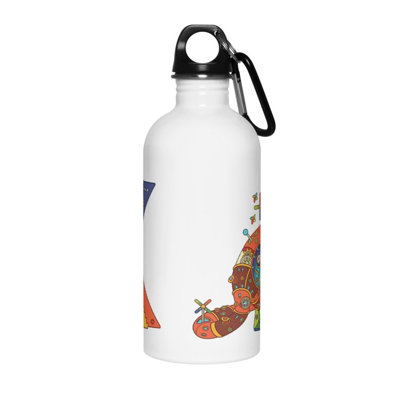 Kangaroo, cool art from the AlphaPod Collection Accessories Water Bottle by AlphaPod