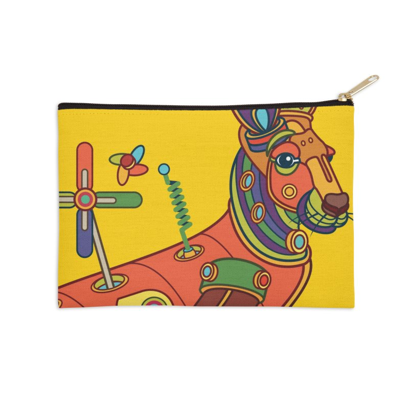 Kangaroo, cool art from the AlphaPod Collection Accessories Zip Pouch by AlphaPod