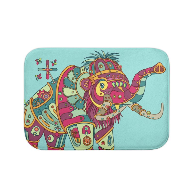 Mammoth, cool art from the AlphaPod Collection Home Bath Mat by AlphaPod