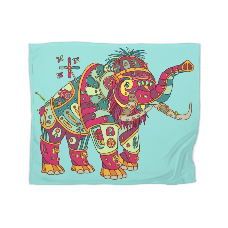 Mammoth, cool art from the AlphaPod Collection Home Blanket by AlphaPod