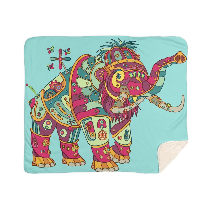 Mammoth, cool art from the AlphaPod Collection Home Sherpa Blanket Blanket by AlphaPod