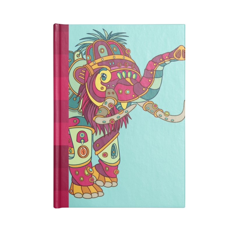 Mammoth, cool art from the AlphaPod Collection Accessories Lined Journal Notebook by AlphaPod