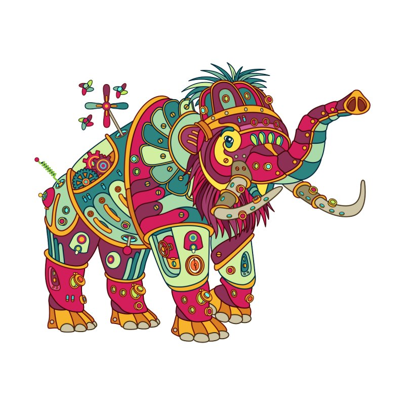 Mammoth, cool art from the AlphaPod Collection by AlphaPod