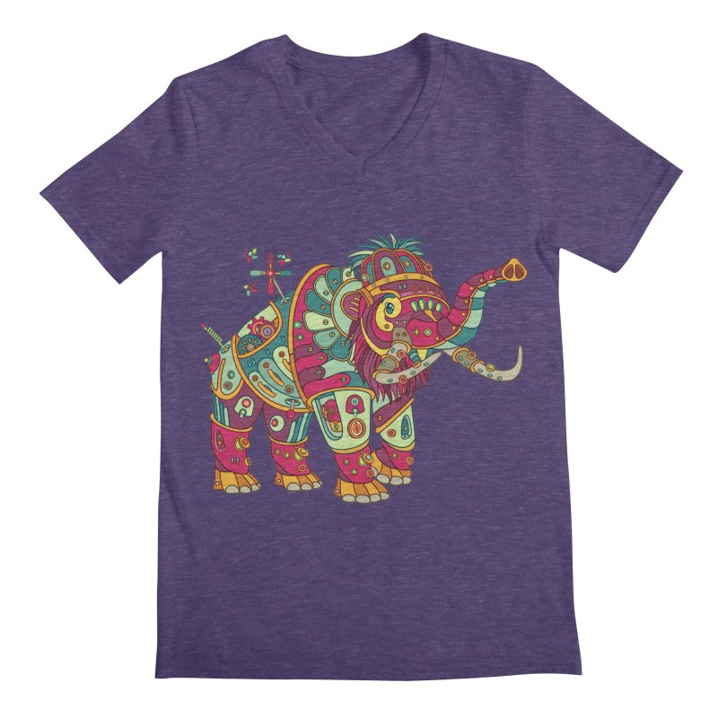 Mammoth, cool art from the AlphaPod Collection Men's V-Neck by AlphaPod