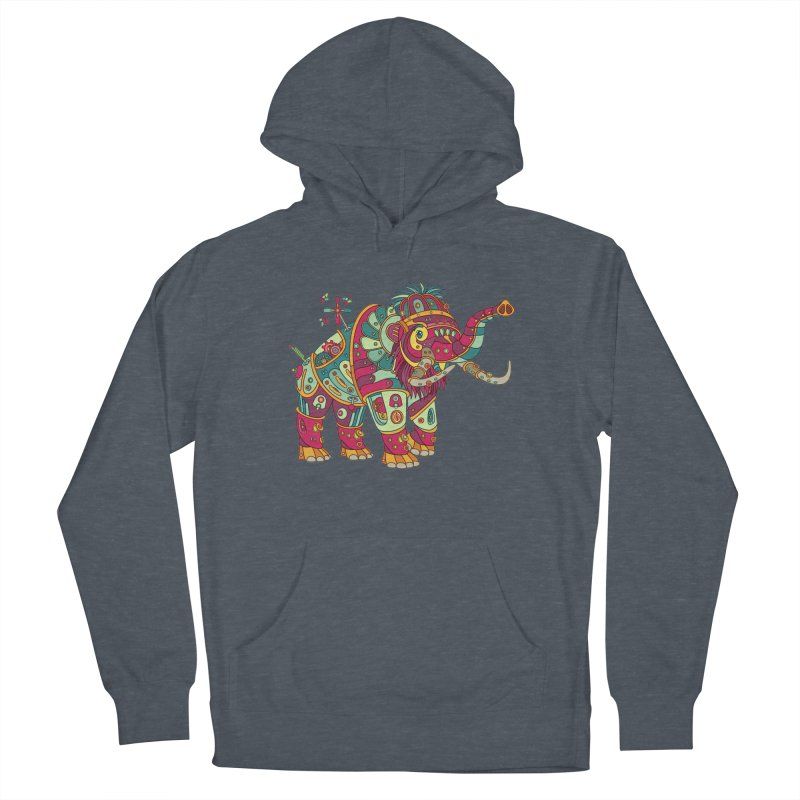 Mammoth, cool art from the AlphaPod Collection Men's French Terry Pullover Hoody by AlphaPod
