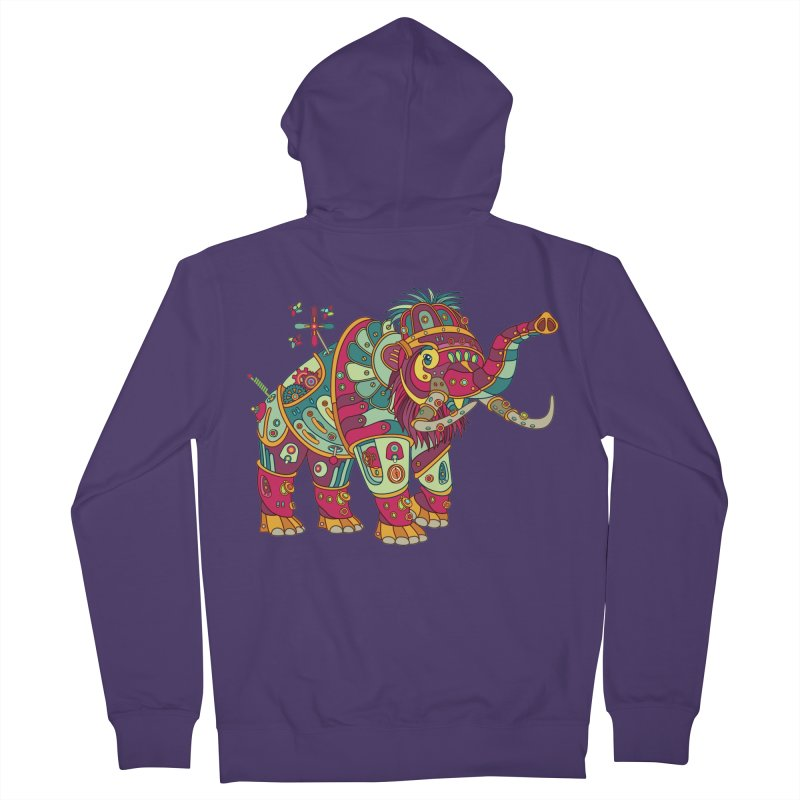 Mammoth, cool art from the AlphaPod Collection Women's French Terry Zip-Up Hoody by AlphaPod