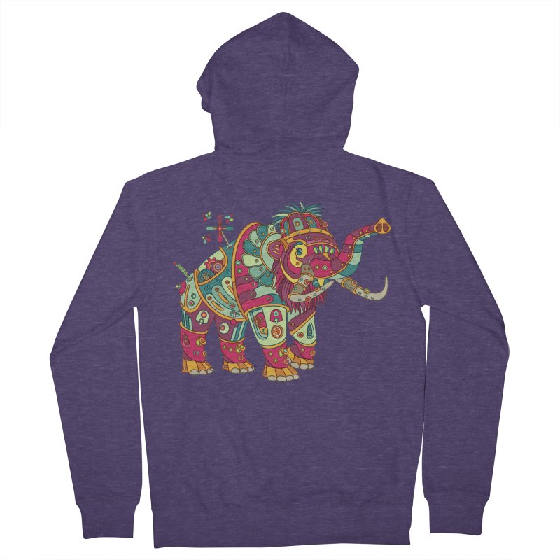 Mammoth, cool wall art for kids and adults alike Men's Zip-Up Hoody by AlphaPod