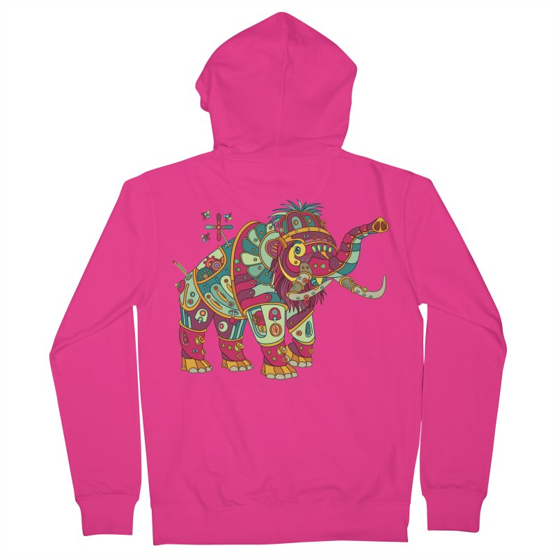 Mammoth, cool art from the AlphaPod Collection Men's French Terry Zip-Up Hoody by AlphaPod