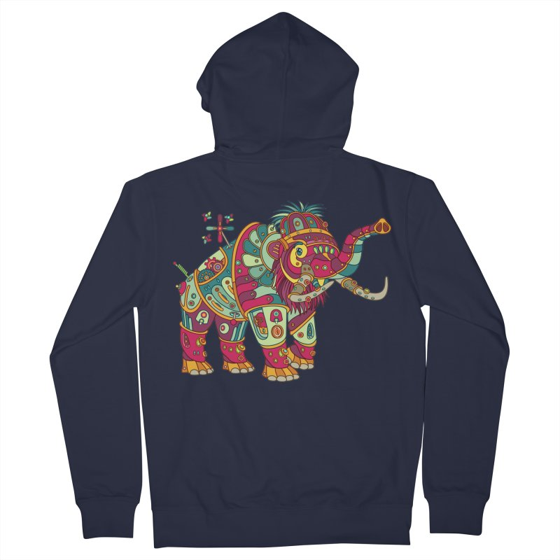 Mammoth, cool art from the AlphaPod Collection Men's Zip-Up Hoody by AlphaPod
