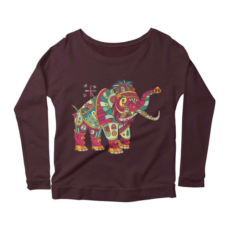 Mammoth, cool art from the AlphaPod Collection Women's Longsleeve Scoopneck  by AlphaPod