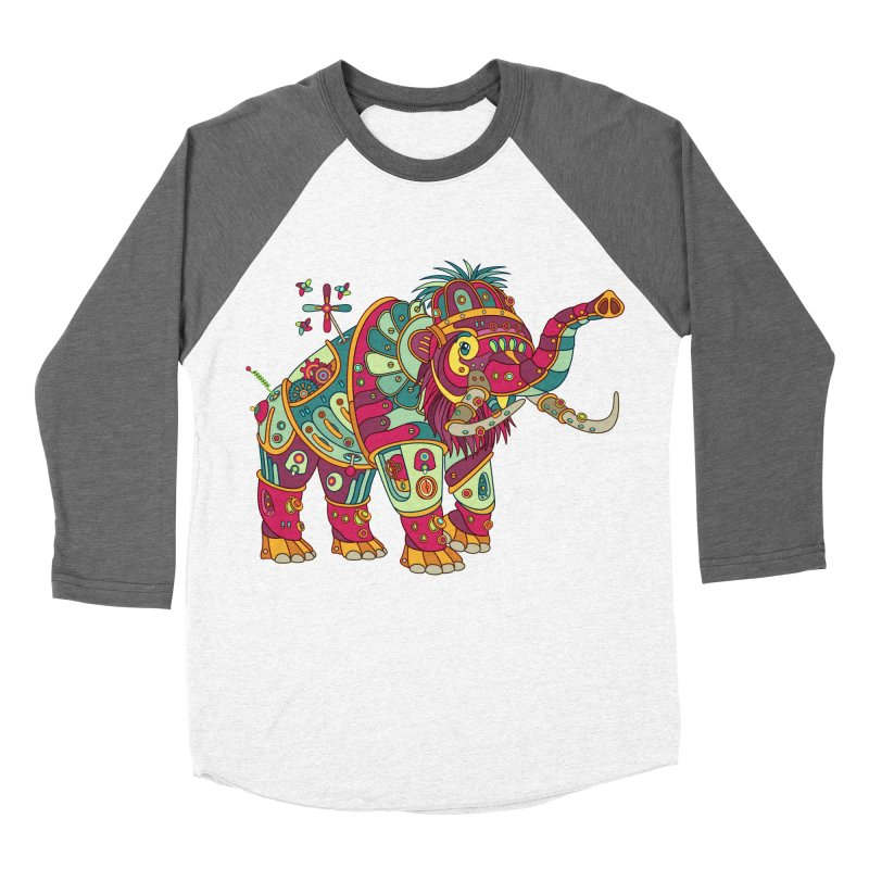Mammoth, cool art from the AlphaPod Collection Women's Baseball Triblend Longsleeve T-Shirt by AlphaPod