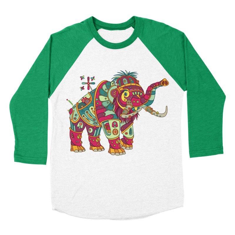Mammoth, cool art from the AlphaPod Collection Women's Baseball Triblend Longsleeve T-Shirt by AlphaPod