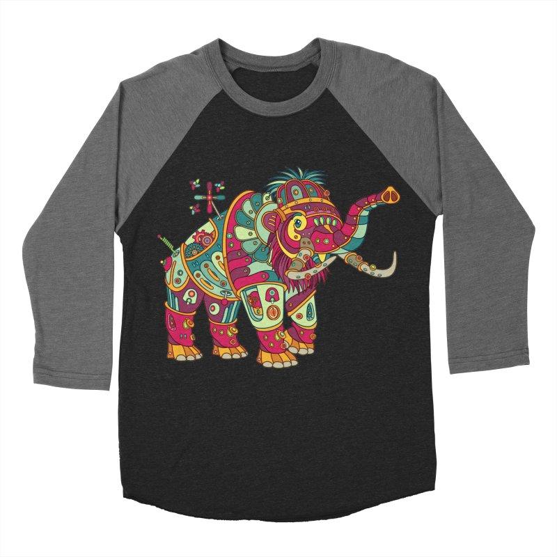 Mammoth, cool art from the AlphaPod Collection Men's Baseball Triblend Longsleeve T-Shirt by AlphaPod