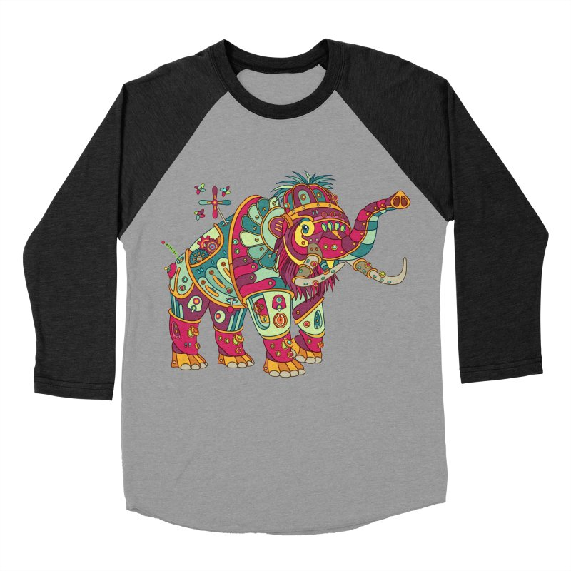 Mammoth, cool art from the AlphaPod Collection Men's Baseball Triblend T-Shirt by AlphaPod
