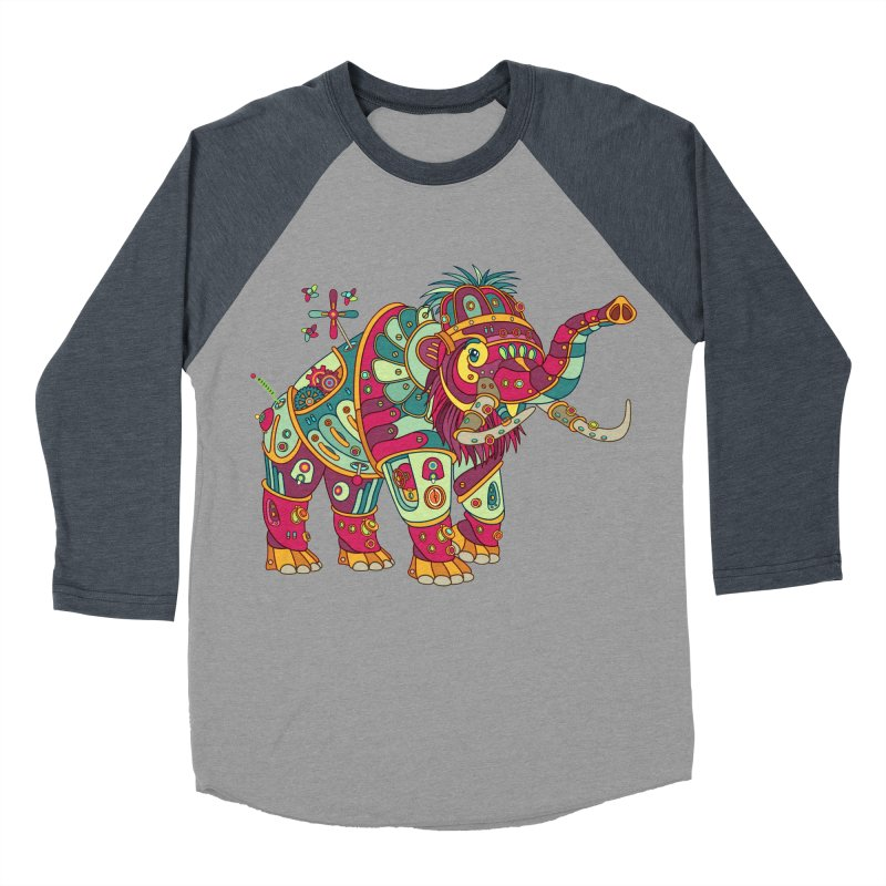 Mammoth, cool art from the AlphaPod Collection Men's Baseball Triblend Longsleeve T-Shirt by AlphaPod