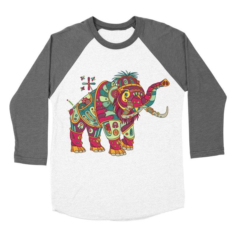 Mammoth, cool wall art for kids and adults alike Men's Baseball Triblend T-Shirt by AlphaPod