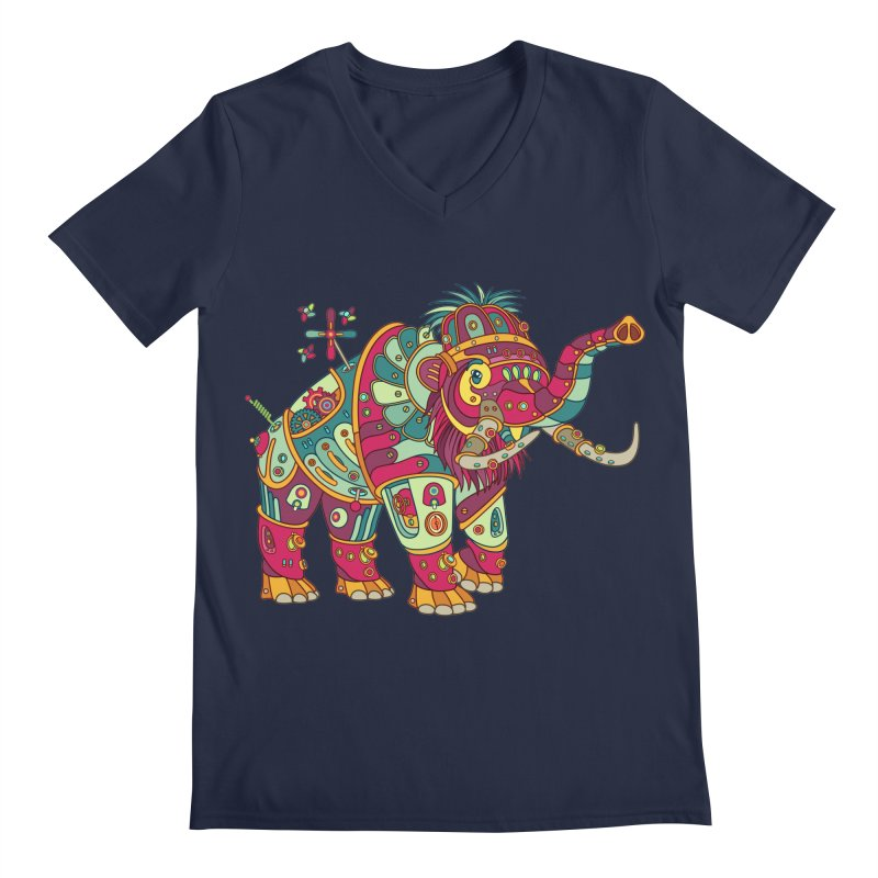 Mammoth, cool art from the AlphaPod Collection Men's Regular V-Neck by AlphaPod