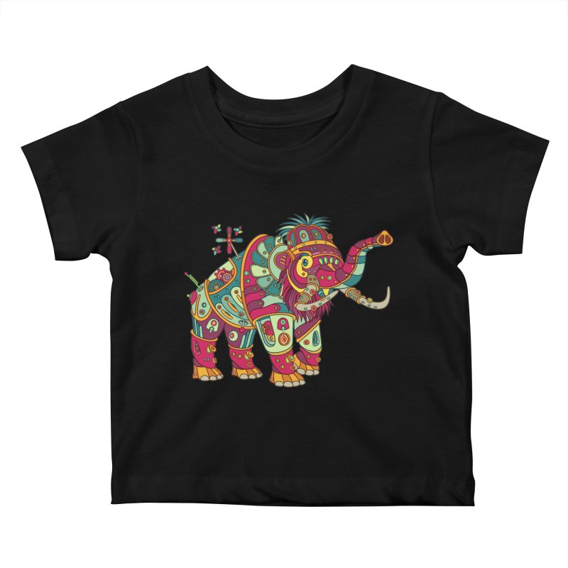 Mammoth, cool art from the AlphaPod Collection Kids Baby T-Shirt by AlphaPod