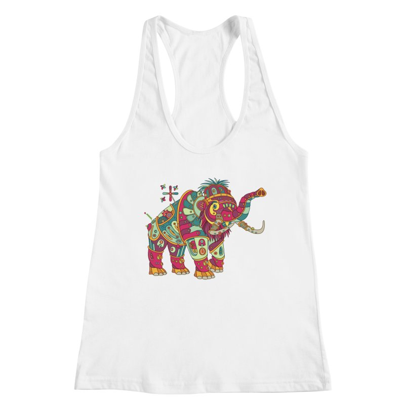 Mammoth, cool art from the AlphaPod Collection Women's Racerback Tank by AlphaPod