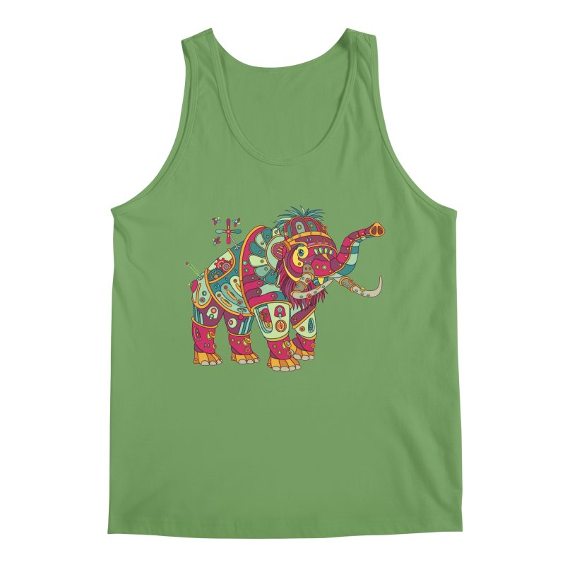 Mammoth, cool art from the AlphaPod Collection Men's Tank by AlphaPod