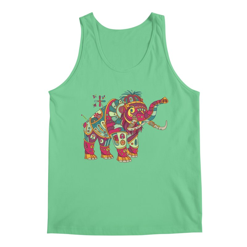 Mammoth, cool art from the AlphaPod Collection Men's Regular Tank by AlphaPod