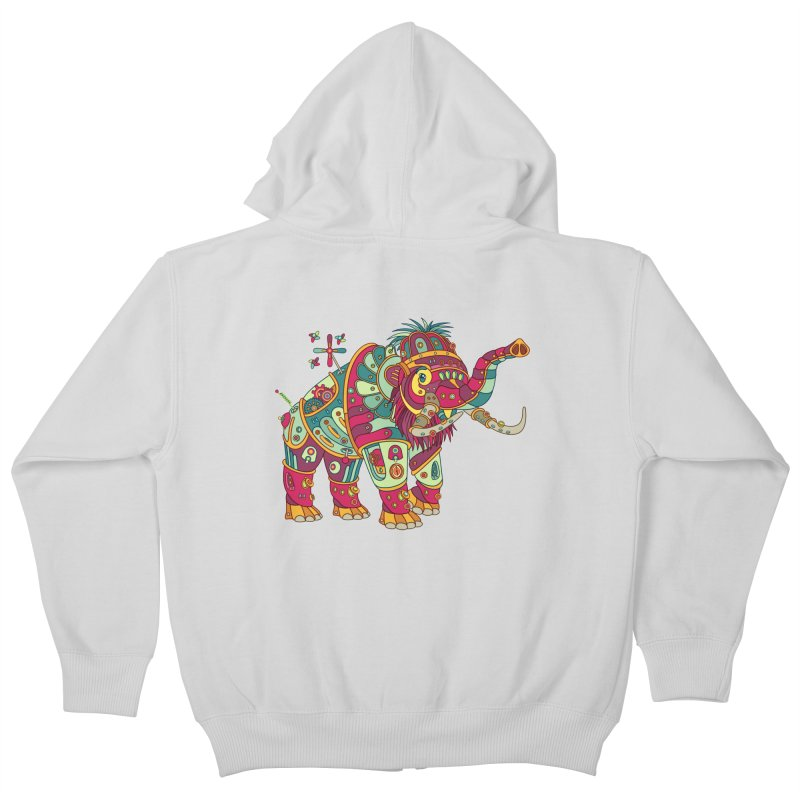 Mammoth, cool art from the AlphaPod Collection Kids Zip-Up Hoody by AlphaPod