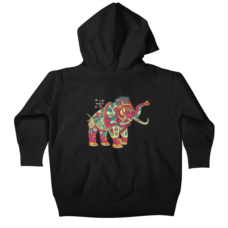 Mammoth, cool wall art for kids and adults alike Kids Baby Zip-Up Hoody by AlphaPod