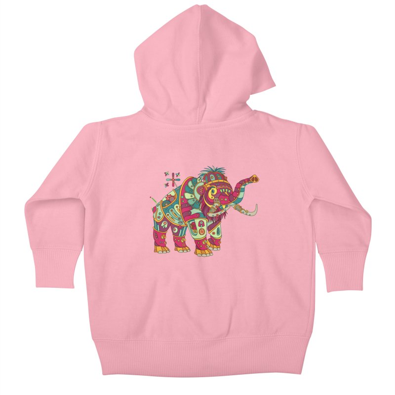 Mammoth, cool art from the AlphaPod Collection Kids Baby Zip-Up Hoody by AlphaPod