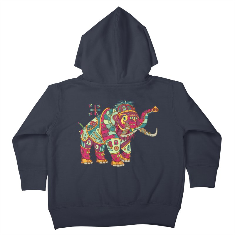 Mammoth, cool art from the AlphaPod Collection Kids Toddler Zip-Up Hoody by AlphaPod