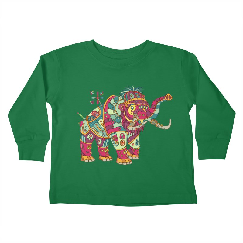 Mammoth, cool art from the AlphaPod Collection Kids Toddler Longsleeve T-Shirt by AlphaPod