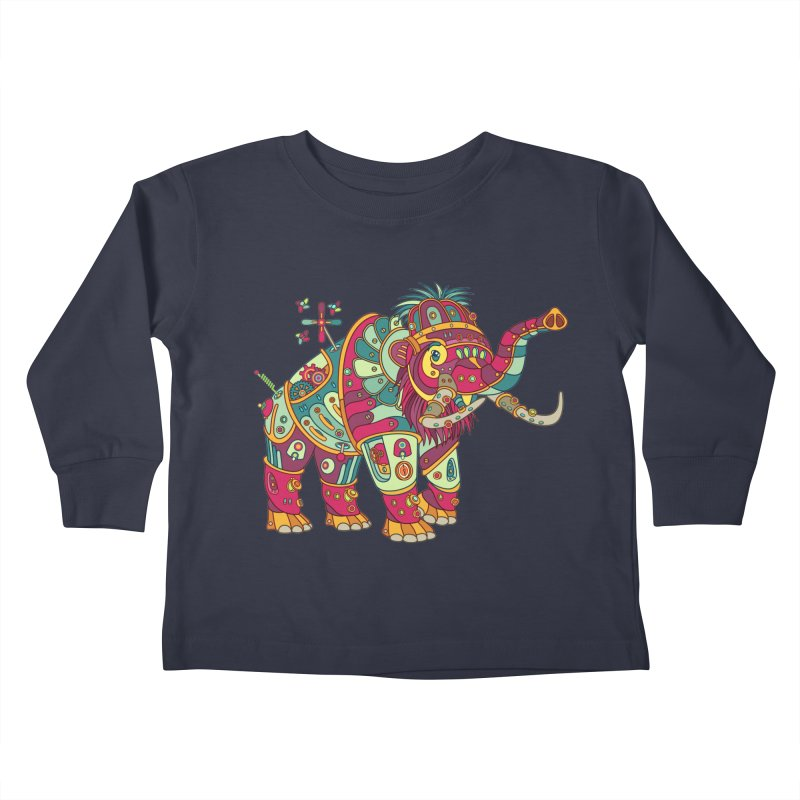Mammoth, cool wall art for kids and adults alike Kids Toddler Longsleeve T-Shirt by AlphaPod