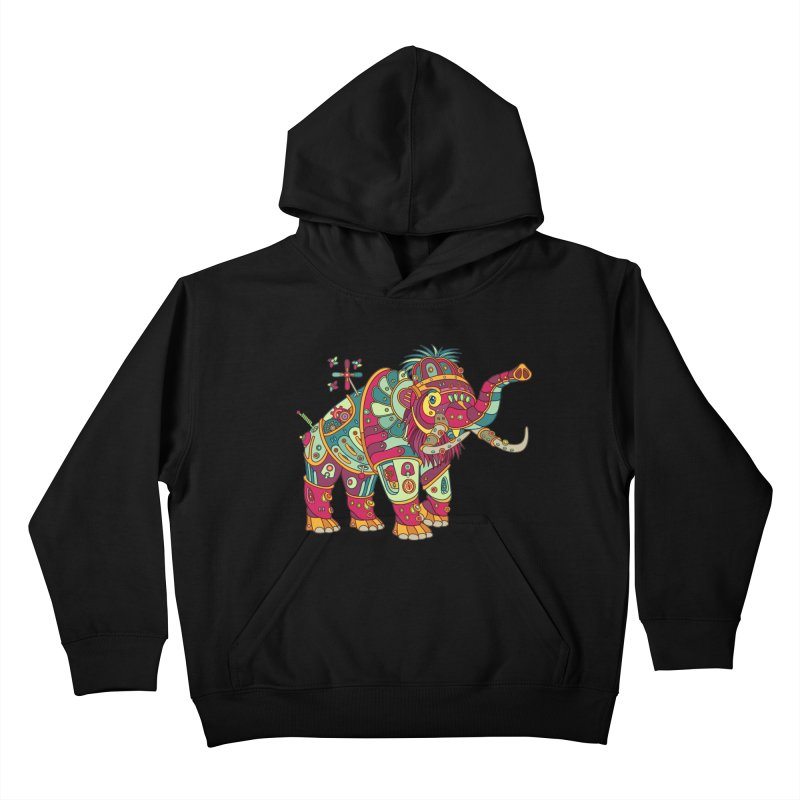 Mammoth, cool art from the AlphaPod Collection Kids Pullover Hoody by AlphaPod