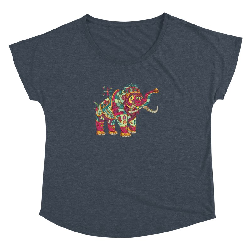 Mammoth, cool art from the AlphaPod Collection Women's Dolman Scoop Neck by AlphaPod