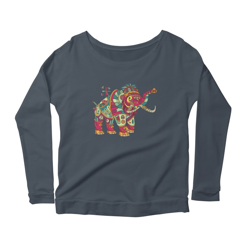 Mammoth, cool art from the AlphaPod Collection Women's Scoop Neck Longsleeve T-Shirt by AlphaPod