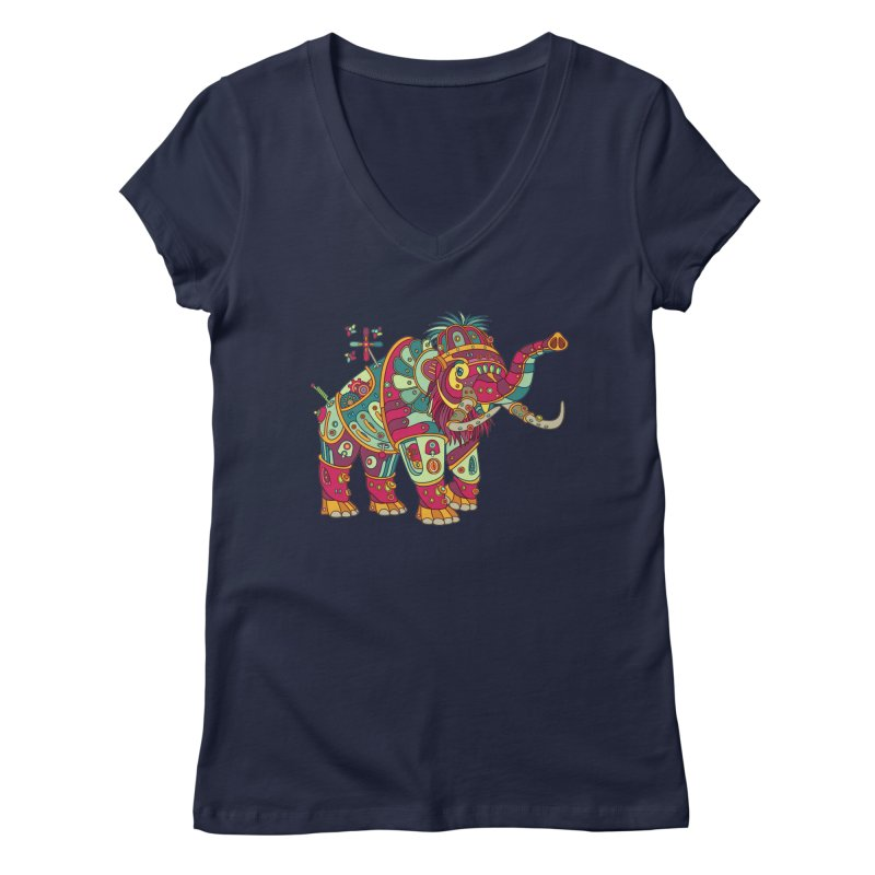 Mammoth, cool art from the AlphaPod Collection Women's V-Neck by AlphaPod