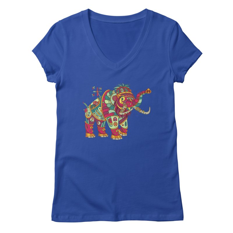 Mammoth, cool wall art for kids and adults alike Women's V-Neck by AlphaPod
