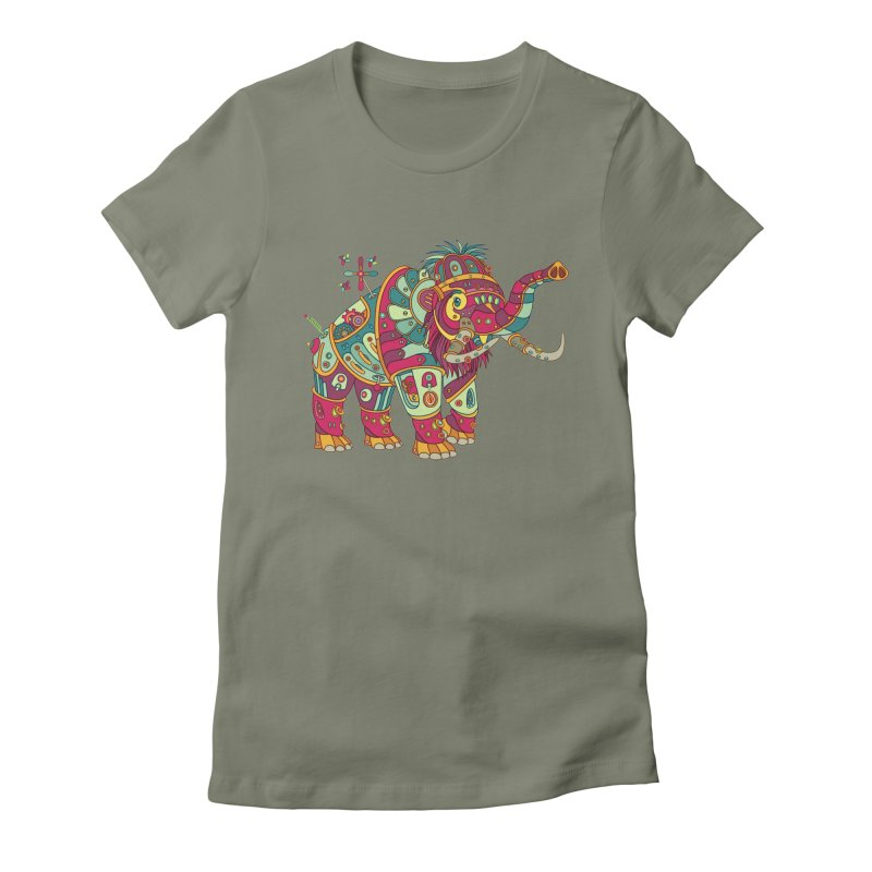 Mammoth, cool art from the AlphaPod Collection Women's Fitted T-Shirt by AlphaPod