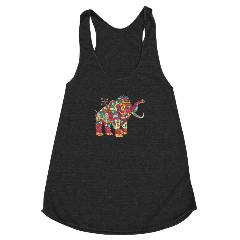 Mammoth, cool art from the AlphaPod Collection Women's Racerback Triblend Tank by AlphaPod
