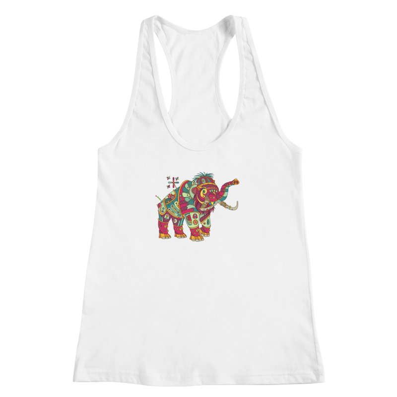 Mammoth, cool wall art for kids and adults alike Women's Racerback Tank by AlphaPod