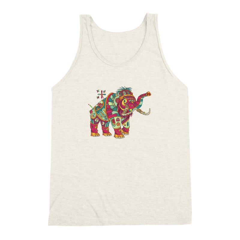 Mammoth, cool art from the AlphaPod Collection Men's Triblend Tank by AlphaPod