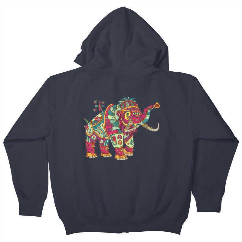 Mammoth, cool wall art for kids and adults alike Kids Zip-Up Hoody by AlphaPod