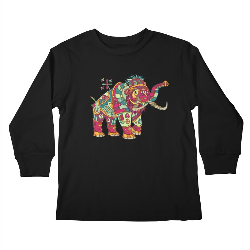 Mammoth, cool art from the AlphaPod Collection Kids Longsleeve T-Shirt by AlphaPod