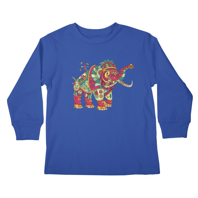 Mammoth, cool wall art for kids and adults alike Kids Longsleeve T-Shirt by AlphaPod