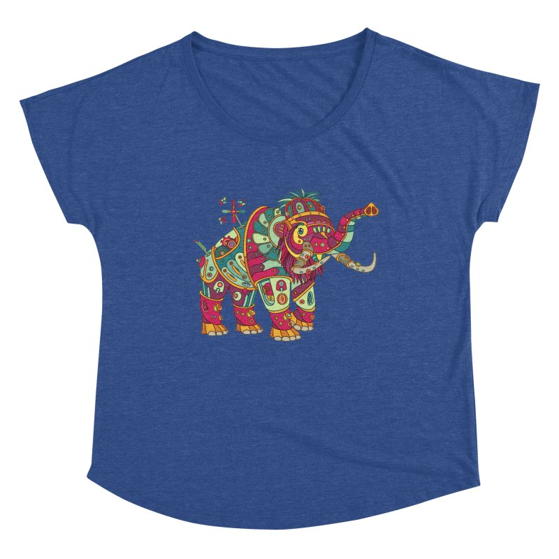 Mammoth, cool art from the AlphaPod Collection Women's Scoop Neck by AlphaPod