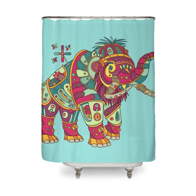 Mammoth, cool art from the AlphaPod Collection Home Shower Curtain by AlphaPod