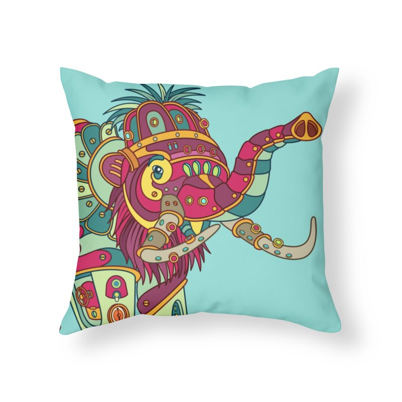 Mammoth, cool art from the AlphaPod Collection Home Throw Pillow by AlphaPod