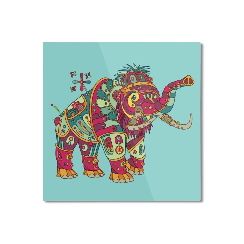 Mammoth, cool art from the AlphaPod Collection Home Mounted Aluminum Print by AlphaPod