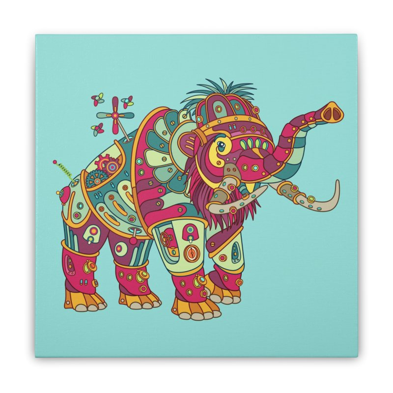 Mammoth, cool art from the AlphaPod Collection Home Stretched Canvas by AlphaPod