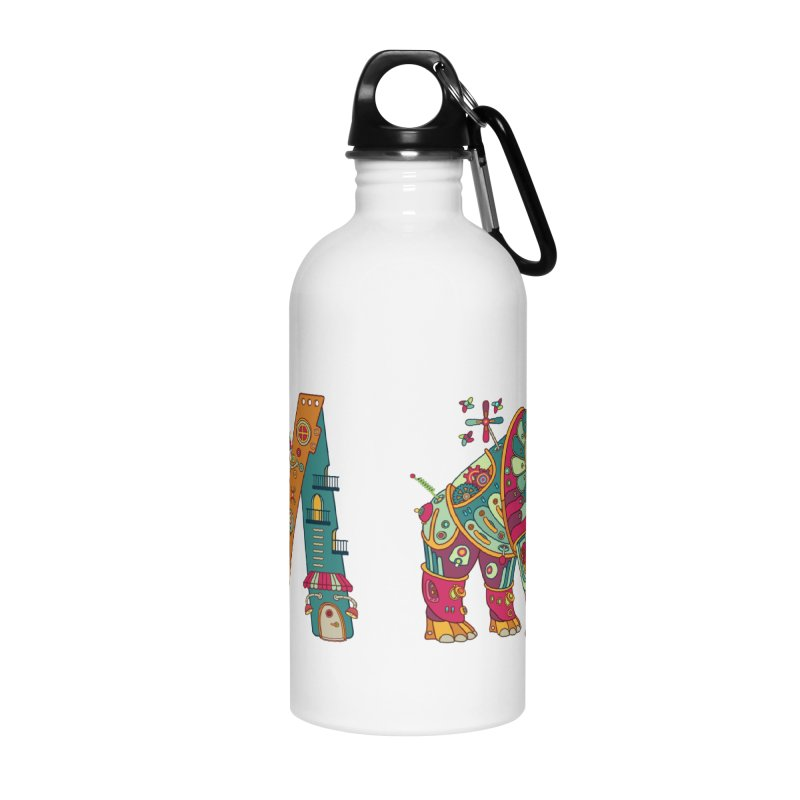 Mammoth, cool art from the AlphaPod Collection Accessories Water Bottle by AlphaPod