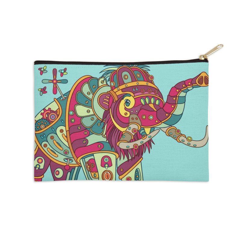 Mammoth, cool art from the AlphaPod Collection Accessories Zip Pouch by AlphaPod